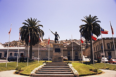 Arturo Pratt monument, Coquimbo, Norte Chico, Chile, South America