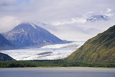 Glacier and Strait of Magellan, Magallanes, Chile, South America