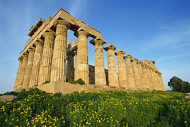 Temple of Hera, dating from the 5th century BC, Selinunte, Sicily, Italy, Europe