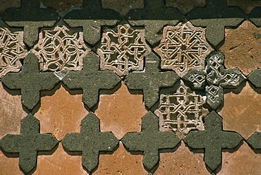 Detail of stonework, Seljuk Turk Palace, Ani, northeast Anatolia, Turkey, Asia Minor, Eurasia