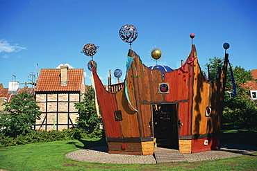 Crown, children's play centre, Odense, Funen, Denmark, Scandinavia, Europe