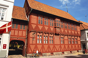 Half timbered house, City Museum, Odense, Funen, Denmark, Scandinavia, Europe