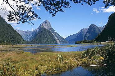 Mitre Peak, Milford Sound, Fiordland National Park, Otago, South Island, New Zealand, Pacific