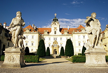 Baroque castle dating from the 12th century, with work by Italian architect Domenico Martinelli, Valtice, UNESCO World Heritage Site, South Moravia, Czech Republic, Europe