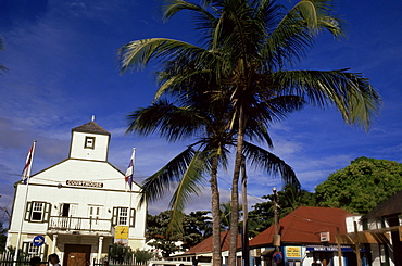 Old courthouse, Philipsburg, St. Maarten, West Indies, Caribbean, Central America