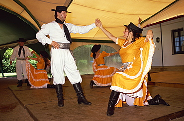 Traditional dance, Fiesta Gauchos, Montevideo, Uruguay, South America