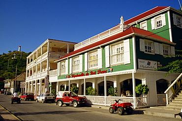 Hotel and restaurant, Gustavia, St. Barthelemy (St. Barts), Leeward Islands, West Indies, Caribbean, Central America