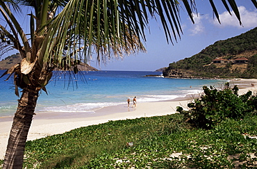 Beach at Anse des Flamands, St. Barthelemy, West Indies, Central America