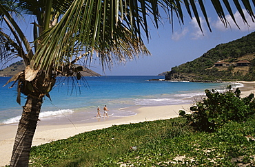 Beach at Anse des Flamands, St. Barts (St. Barthelemy), West Indies, Caribbean, Central America