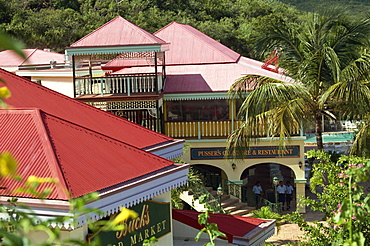Pusser's store, bar and restaurant, Laverick Bay, Virgin Gorda, Virgin Islands, West Indies, Caribbean, Central America