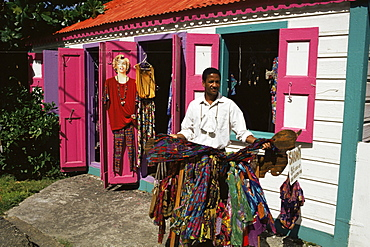 Small colourful boutique, Road Town, Tortola, British Virgin Islands, West Indies, Caribbean, Central America