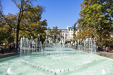City Garden Park, Fountains, Sofia, Bulgaria, Europe