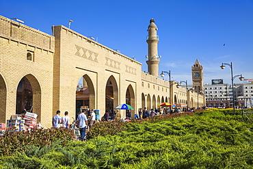 Shar Park and Qaysari Bazaar, Erbil, Kurdistan, Iraq, Middle East