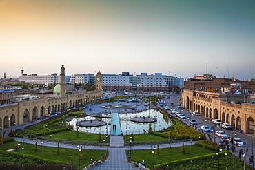 Shar Park and Qaysari Bazaars, Erbil, Kurdistan, Iraq, Middle East
