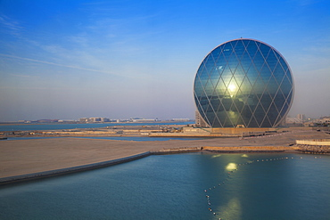 View of Aldar Headquarters, Abu Dhabi, United Arab Emirates, Middle East