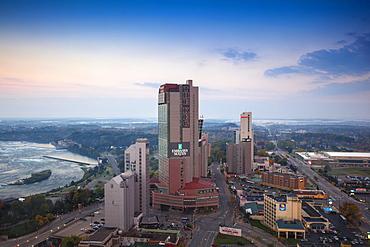 View of hotels, Niagara Falls, Niagara, Ontario, Canada, North America