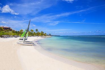 Catamarans on Playa Guardalvaca, Holguin Province, Cuba, West Indies, Caribbean, Central America