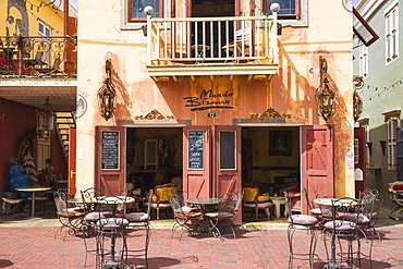 Mundo Bizarro, Latino restaurant, lounge, cafe with a Cuban syle interior, Pietermaai, Willemstad, Curacao, West Indies, Lesser Antilles, former Netherlands Antilles, Caribbean, Central America