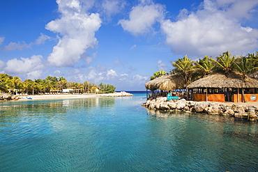 Hemingway Beach beach bar and grill, Willemstad, Curacao, West Indies, Lesser Antilles, former Netherlands Antilles, Caribbean, Central America