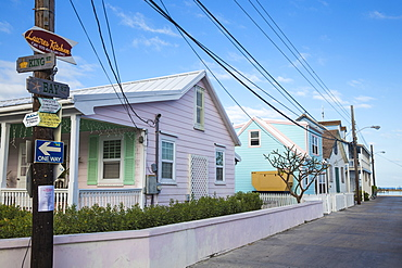Bay Street, New Plymouth, Green Turtle Cay, Abaco Islands, Bahamas, West Indies, Central America