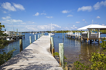 Jetty, New Plymouth, Green Turtle Cay, Abaco Islands, Bahamas, West Indies, Central America