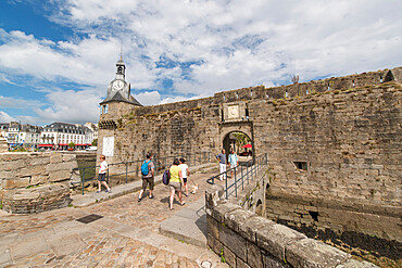 Entrance to Ville Close, Concarneau, Brittany, France