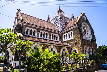 All Saints Anglican Church in the Old Town of Galle, UNESCO World Heritage Site, Sri Lanka, Asia
