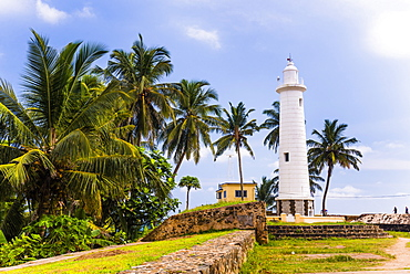 Galle lighthouse in the Old Town of Galle, UNESCO World Heritage Site, Sri Lanka, Asia