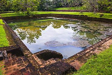 Water Gardens in the Royal Gardens at Sigiriya Rock Fortress (Lion Rock), UNESCO World Heritage Site, Sigiriya, Sri Lanka, Asia