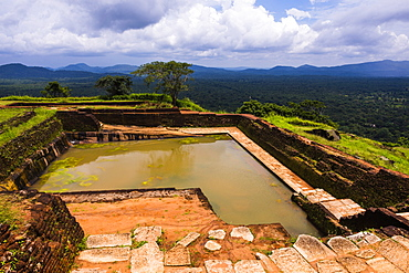 Royal Bathing Pool at the top of Sigiriya Rock Fortress (Lion Rock), UNESCO World Heritage Site, Sigiriya, Sri Lanka, Asia