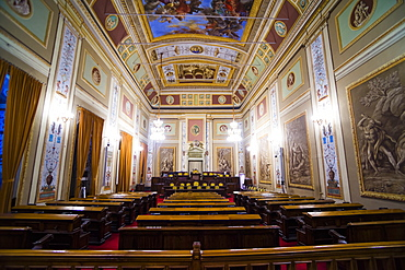 Courtroom at Royal Palace of Palermo (Palazzo Reale) (Palace of the Normans), Palermo, Sicily, Italy, Europe
