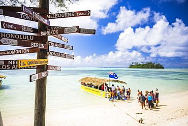 Captain Tama's Lagoon Cruizes, Muri Lagoon, Rarotonga, Cook Islands, South Pacific, Pacific