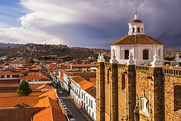 Historic City of Sucre seen from Iglesia Nuestra Senora de La Merced (Church of Our Lady of Mercy), Sucre, UNESCO World Heritage Site, Bolivia, South America