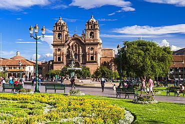 La Compania (Church of the Society of Jesus), Plaza de Armas, UNESCO World Heritage Site, Cusco (Cuzco), Cusco Region, Peru, South America