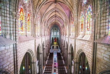 La Basilica Church (Basilica del Voto Nacional), City of Quito, Old Town, UNESCO World Heritage Site, Ecuador, South America