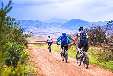 Cusco (Cuzco), cycling in the countryside near Maras, Cusco Province, Peru, South America