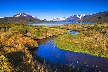 Belgrano Lake (Lago Belgrano) with Andes Mountain Range backdrop, Perito Moreno National Park, Santa Cruz Province, Patagonia, Argentina, South America