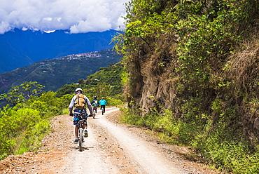 Cycling Death Road, La Paz Department, Bolivia, South America