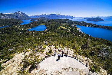View from Cerro Campanario (Campanario Hill), San Carlos de Bariloche, Rio Negro Province, Patagonia, Argentina, South America