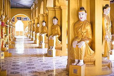 Golden Buddhist Temple at Amarapura, Mandalay, Mandalay Region, Myanmar (Burma), Asia