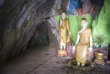 Cave temple near Mawlamyine, Mon State, Myanmar (Burma), Asia