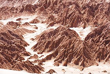 Rock formations in Death Valley (Valle de la Muerte), San Pedro de Atacama, Atacama Desert, North Chile, South America