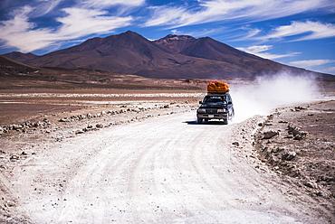 A 4wd Bolivian Altiplano tour passing volcanoes, South-West Bolivia, South America