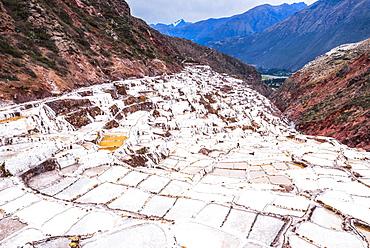 Salt pans (Salinas de Maras), Maras, near Cusco (Cuzco), Peru, South America