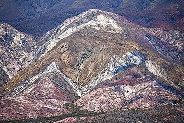 Colourful rocks in Cactus National Park (Parque Nacional Los Cardones), Cachi Valley, Calchaqui Valleys, Salta Province, North Argentina, South America
