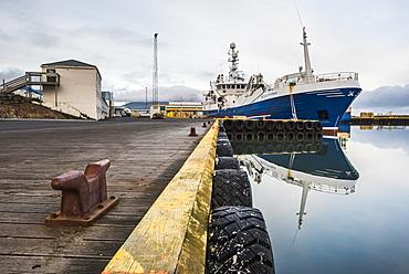 Fishing Harbour at Hofn, East Fjords Region (Austurland), Iceland, Polar Regions