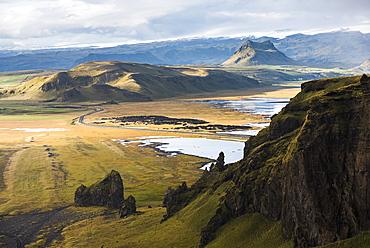 Sunset view from Dyrholaey Peninsula, near Vik, South Iceland (Sudurland), Iceland, Polar Regions