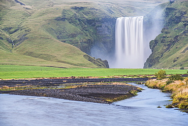 Skogafoss Waterfall, Skogar, South Region (Sudurland), Iceland, Polar Regions