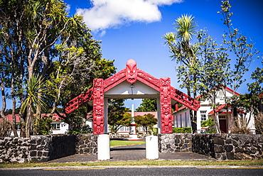 Maori Church, Waitangi Treaty Grounds, Bay of Islands, Northland Region, North Island, New Zealand, Pacific