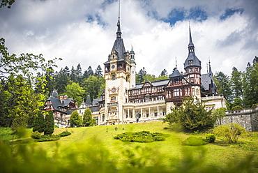 Peles Castle, a palace near Sinaia, Transylvania, Romania, Europe